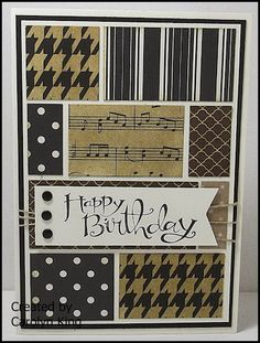 Stampin' Up! ... hand crafted birthday card from King's on Paddington .. blocks…