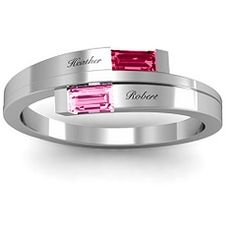 Mother's ring - birthstones of children + names engraved. Great for Mother's Day or a birthday!