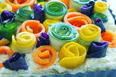 Triple Cheese Tart with Garden Veggie Roses – SIMPLY BEAUTIFUL EATING