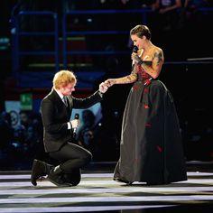 Ruby Rose and Ed Sheeran slayed as EMA hosts.