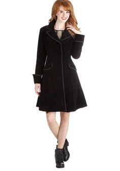 sold to Brooke---------- size large------- Way Back Ren Coat - Black, Solid, Buttons, Pockets, Trim, Steampunk, Long Sleeve, International Designer, Cotton, Long, 3, Black