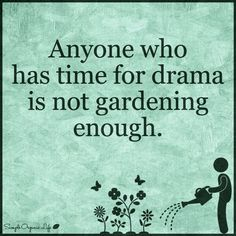 Life is too short not to garden! Don't waste it on petty drama!