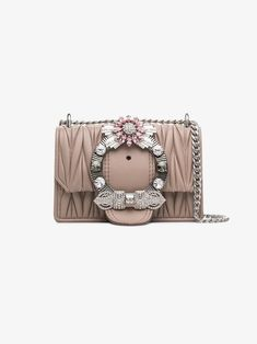 MIU MIU   Embellished Matelassé Shoulder Bag    2,790   This rose Miu Miu  Lady crystal b7c30b5c30
