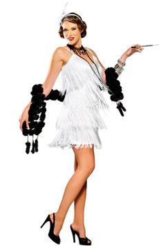 Hollywood Flapper Adult Costume #Halloween #costumes #flapper #gastby