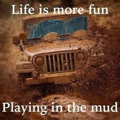 Life is more fun in a Jeep and the mud! And you would never know that the jeep was pink. Jeep Cj7, Jeep Wrangler Tj, Jeep Rubicon, Jeep Wrangler Unlimited, Jeep Jeep, Hummer, Morris 4x4 Center, Truck Pulls, Automobile
