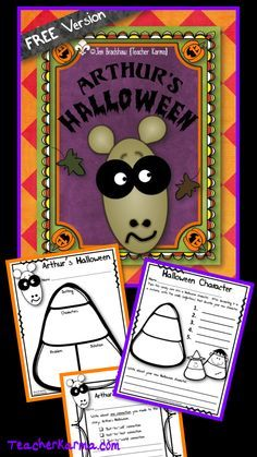 FREEBIE:  Arthur's Halloween Literacy Kit.  Fun reading and writing activities.  TeacherKarma.com #Halloween #reading