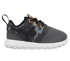 Nike Rosherun Print (PS/TD) Shoes Dark Grey/Black-CL 677783004 NEW  #NIKE
