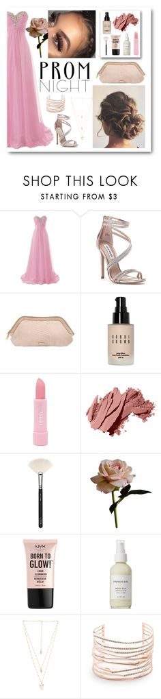 """""""prom night 1"""" by sighluna ❤ liked on Polyvore featuring Steve Madden, Burberry, Bobbi Brown Cosmetics, Forever 21, ZOEVA, Abigail Ahern, NYX, French Girl, Natalie B and Alexis Bittar"""