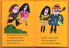it is worth reading | oange | Flickr Paper Airplane Book, Nonsense Poems, Hippie Kids, Retro Illustration, Cat Crafts, Nursery Rhymes, Creative Art, Art History, Childrens Books