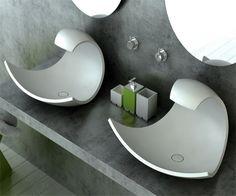 Einzigartiges Waschbecken Wasserwelle Waschbecken