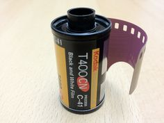 Kodak T400 CN. Just like Ilford XP2, it is a black & white film which can be processed in C-41 chemicals. Now replaced with Kodak Professional BW400CN.