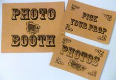 DIY photo booth... with props!