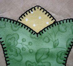 Blanket stitch points - great site for machine applique