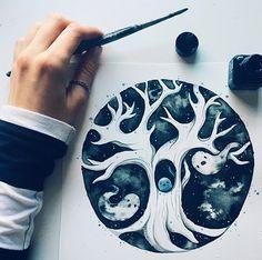 Inktober Drawing, Illustration