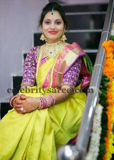 Purple Color Muggulu Work Blouse   Saree Blouse Patterns