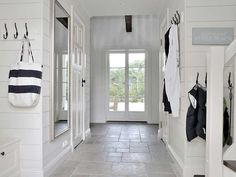 Beach House in Sweden #Beach #Decor #Entry #Mudroom #White