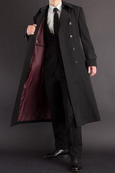 長い着丈のコート