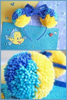 Flounder Inspired Mickey Ears | Disney Ears | Disneyland | Walt Disney World | Little Mermaid #diy #mickeyears #minnieears #disney #disneyears