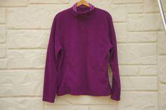 Vintage Women's 90s Purple Lands End Fleece by SycamoreVintage