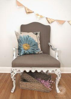 Chalk Paint Queen Anne Chair