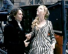 black white stripe dress Christina Ricci Sleepy Hollow
