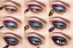 metallic purple blue gold makeup tutorial
