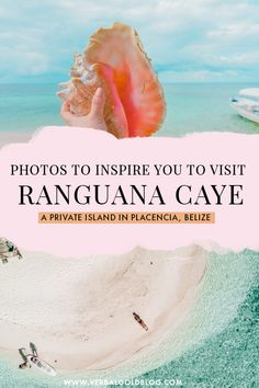 Wondering what to do in Placencia, Belize? One of the best day trips and things to do in Placencia, Belize is visiting Ranguana Caye, a private paradise island that needs to be in your Belize holiday itinerary! #Belize