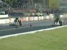 Tony Schumacher 2000 Memphis nhra drag racing crash