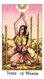 December 28 Tarot Card: Three of Wands (Cosmic deck) You're in the early stages of something good now. Take this time to expand your mind and your ideas, and make it even better