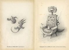 """wish list Shaun Tan """"What Miscellaneous Abnormality Is That? Shaun Tan, Graphic Design Illustration, Children's Book Illustration, Book Illustrations, Beautiful Sketches, Disney Concept Art, Artist Journal, Doodle Drawings, Sketch Pad"""