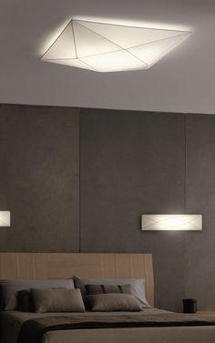 Chandeliers, suspension lamps, floor lamps, wall lamp, and table lamps - various inspiring ideas for your bedroom lighting. Bedroom Ceiling, Bedroom Lamps, Bedroom Wall, Wall Lamps, Office Ceiling, Wall Sconces, Track Lighting Bedroom, Living Room Lighting, Bedroom Light Fixtures