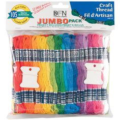 Craft Thread Jumbo Pack Assorted Colors