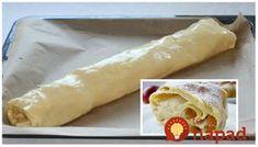 Výborný závin z jemnučkého šľahačkového cesta. Výborný a jednoducho pripravený!  Potrebujeme:      500 g hladkej múky    1/2 bal. prášku do pečiva    200 g smotany na šľahanie 33%    2 vajcia    1 lyžica octu    špetka soli    Náplň:    6 jabĺk. mletá škorica, cukor a strúhanka (môžete pridať aj Strudel, Sweet Desserts, Hot Dog Buns, Oreo, Cake, Ethnic Recipes, Parenting, Food, Kids