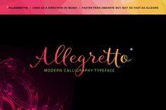 Allegretto Script (intro 20%off) by MyCreativeLand on Creative Market