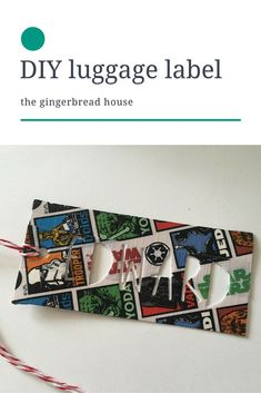 DIY kid-friendly luggage label