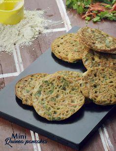 Mini Quinoa Pancakes, Ibs Recipe recipe | by Tarla Dalal | Tarladalal.com | #41520