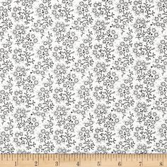 Mini Floral White/Black from @fabricdotcom  From Richlin, this fabric is perfect for quilting, apparel and home decor accents. Colors include black and white.