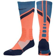 Nike Hyperelite World Tour Crew Socks - Bright Mango/Rift Blue/Midnight Navy