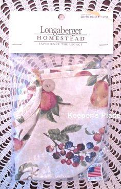 Longaberger Medium Woven Memories Basket Liner Fruit Medley 2007  New In Package #Longaberger