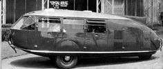 photo of Buckminster Fuller's dymaxion car