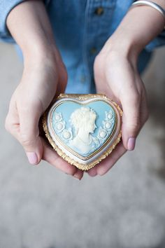 Giving Hands - Cameo, Blue Giving Hands, Princess Aesthetic, I Love Heart, Woodland Wedding, Forest Wedding, Blue Wedding, Little Gifts, Shades Of Blue, Heart Shapes