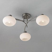 Limbo Wall Light Chrome : Elio Ceiling Light, 3 Arm Grey walls, Chang e 3 and John lewis