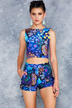 Zoa Garden Wifey Top - 48HR ($50AUD) by BlackMilk Clothing