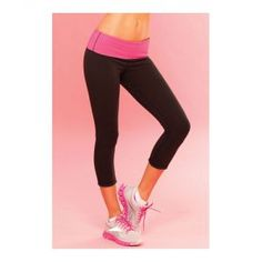 Yoga-Hose in Schwarz mit Pink Small | Leggings | Dessous Damen |