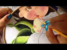 Pintura en tela niña mango # 3 con cony
