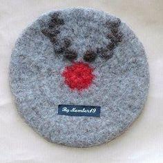 Reindeer Coaster Crochet Pattern