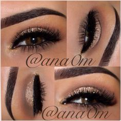 SUCH A BEAUTIFUL soft sparkle eye by the amazing ✨@ana0m✨ She will be posting steps next! LOVE - @vegas_nay- #webstagram