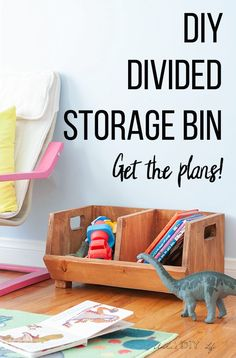 These DIY wooden storage bins is so great! Make great toy storage or vegetable storage! Great idea! How to build an easy DIY storage Bin with divider | Perfect beginner woodworking project | Scrap wood project idea | kitchen, playroom organization solution! #AnikasDIYLife #woodowrking #kitchen #organization #woodworkingplans