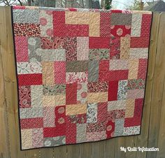 My Quilt Infatuation: Louisiana Courtyard... So simple but beautiful