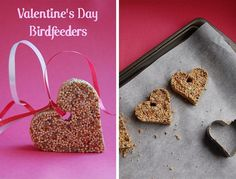 valentine's day bird feeders #valentine'sdaycrafts